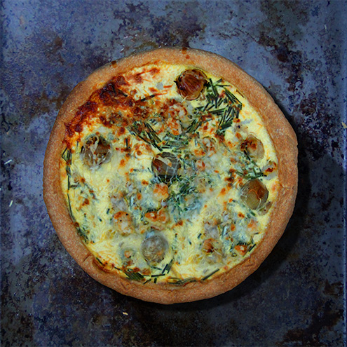 Potato, leek and Gruyère tart