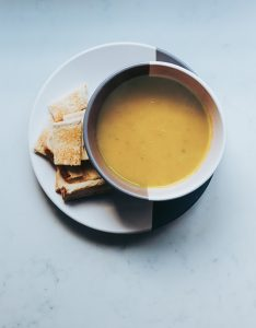 Apple, parsnip and potato soup